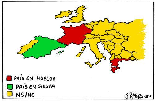 mapa de movilizaciones de Europa