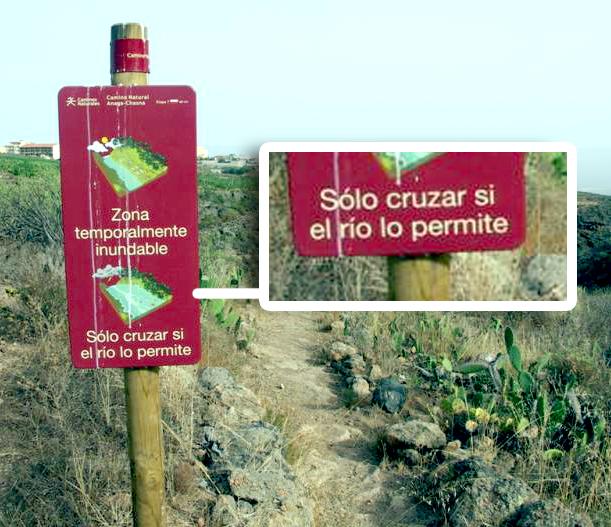 Ríos que se desbordan, en Tenerife (Sucursalismo)