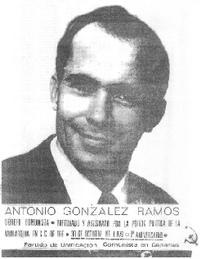 Antonio González Ramos, militante del PUCC asesinado en 1975.