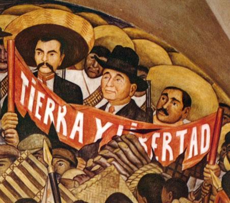 Diego Rivera, fragmento del mural Tierra y libertad