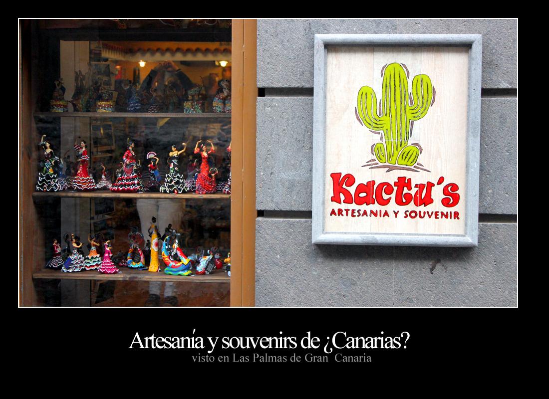 Artesanía Kactus. Artesanía y souvenirs de ¿Canarias? - Visto en Las Palmas de Gran Canaria