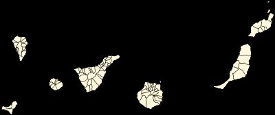 Mapa de municipios canarios