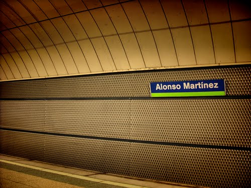 Andén de metro donde tuvo lugar el nuevo récord mundial.