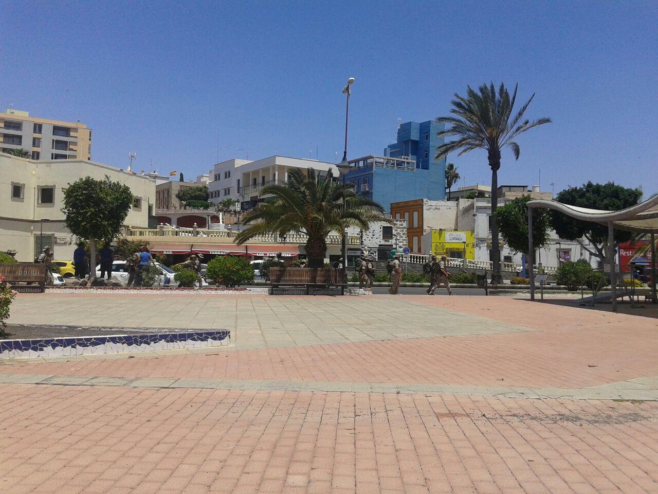 Maniobras del ejército en Fuerteventura