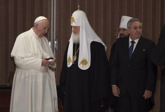 El Papa Francisco y el Patriarca Cirilo