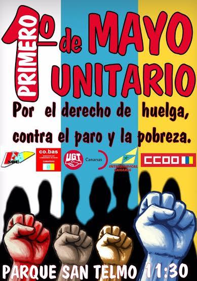 Cartel de la marcha en Gran Canaria.
