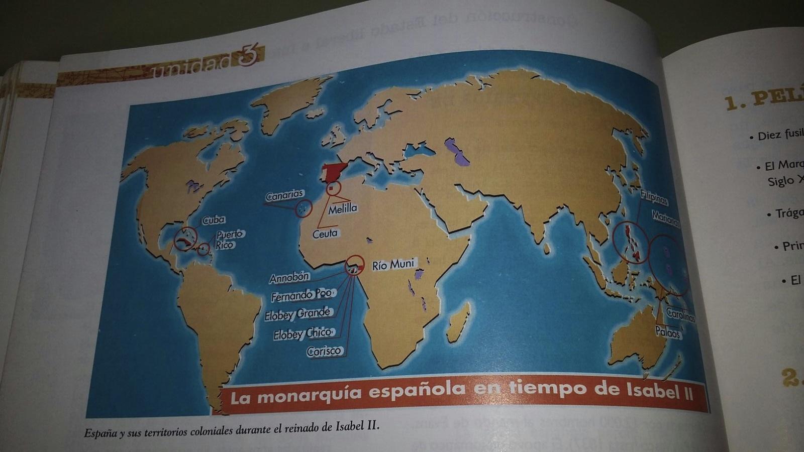 España y sus territorios coloniales durante el reinado de Isabel II