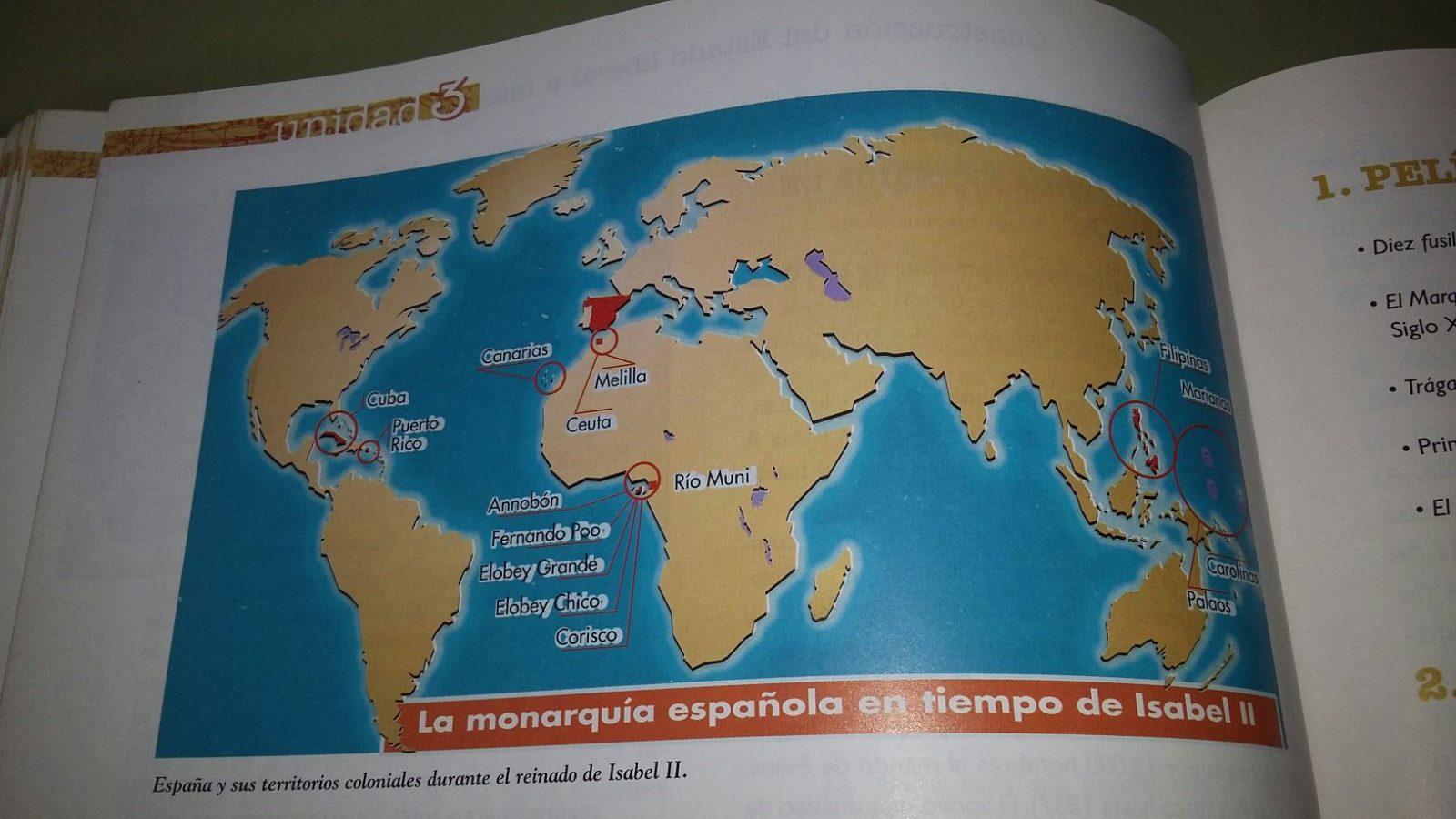 Territorios coloniales españoles en el reinado de Isabel II